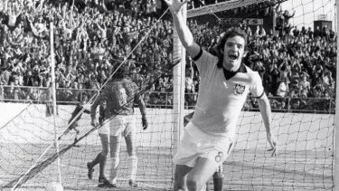 Ray Baartz, pictured during the match against Uruguay that ended his career.