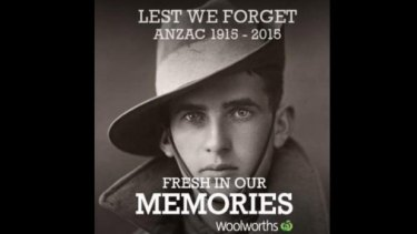 Woolworths was criticised for its Anzac Day campaign.