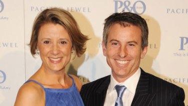 Power players ... Kristina and Ben Keneally.