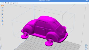 The Volkswagen Beetle design, downloaded from the XYZ gallery and loaded into XZYware.