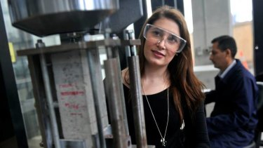 Katie York, studying mechanical engineering at Swinburne, is heavily outnumbered.