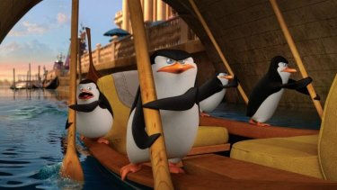 World travellers: The foursome at the centre of <i>Penguins of Madagascar</i>.