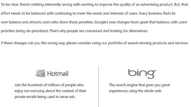 Another portion of Microsoft's attack ad.