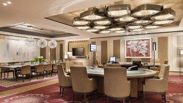 Crown Casino's high roller room.