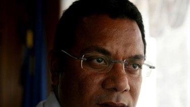 President of Nauru Marcus Stephen.