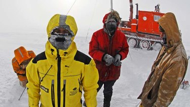 Freezing work: setting up an Antarctic weather station