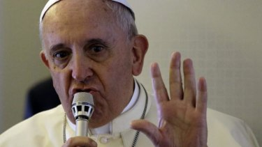 Pope Francis has said it is justified to stop Islamist aggression in Iraq.