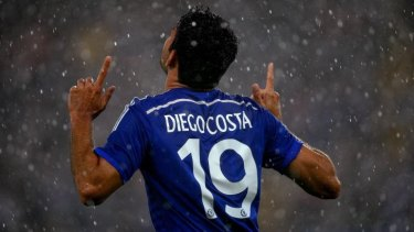 Diego Costa in his new kit.