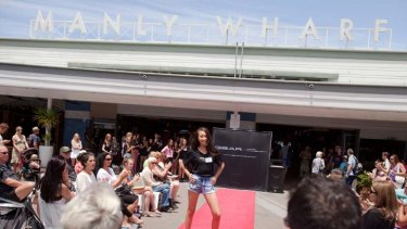 Teen dream ... contestants as young as 13 competed in a model search at Manly yesterday.