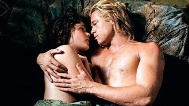 Rose Byrne with Brad Pitt in <i>Troy</i>.
