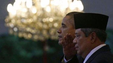 US President Barack Obama (left) and Indonesian President Susilo Bambang Yudhoyono in 2010.