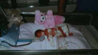 Louise Pallot spent months in hospital after being born just 24 weeks into her mother's pregnancy .