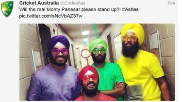 The offending tweet that was deleted by Cricket Australia.
