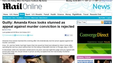 Oops ... the Daily Mail was one of several news organisations to wrongly report Knox's appeal result.