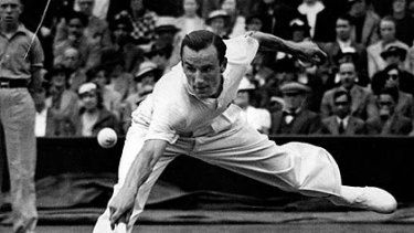 """Fred Perry ... asked the umpire: """"Is this a cricket or a tennis match?"""""""