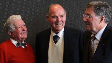 Life members … Tom Moore, Kel Nagle and Peter Thomson.
