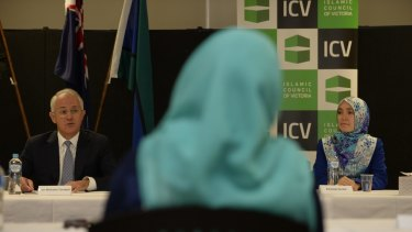 Prime Minister Malcolm Turnbull visited the Islamic Council of Victoria last year for a  meeting with Muslim youth.
