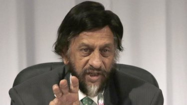 Grave warning ... Chairman of the Intergovernmental Panel on Climate Change (IPCC) Rajendra K. Pachauri speaks during a press conference in Yokohama.
