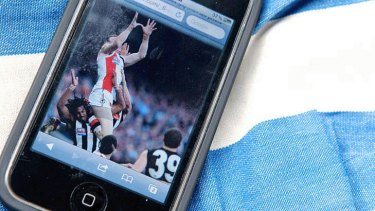 Vital message: Next month a judge rules on legal wrangle involving the AFL, NRL, Telstra and Optus.
