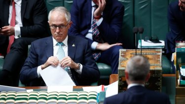 Malcolm Turnbull and Bill Shorten in question time last month. Labor can afford to lose seats; the government cannot.
