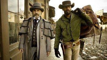 Nonsensical? ... Christoph Waltz and Jamie Foxx in <em>Django Unchained</em>.
