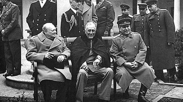 Power players: Winston Churchill, Franklin D. Roosevelt and Joseph Stalin in the 1940s.