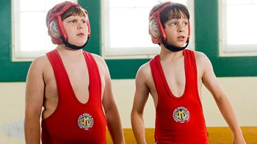 The friendship between Rowley (Robert Capron, left) and Greg (Zachary Gordon) comes under strain in the winning schoolyard comedy Diary of a Wimpy Kid.