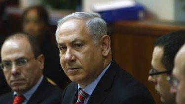 Desperate ... Netanyahu risks losing US support.