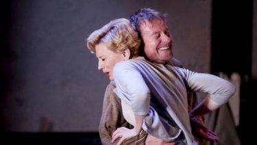 Embracing their characters ... Yelena (Cate Blanchett) and Vanya (Richard Roxburgh) share an awkward moment.