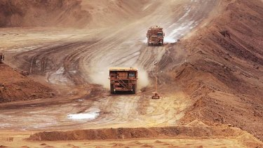 Iron ore ... China's hunger for the key ingredient in steelmaking has started to wane.