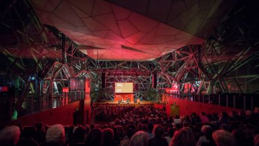 Melbourne Writers Festival events at Deakin Edge, Federation square, 2017.