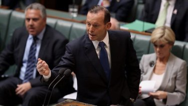 Unpopular with business: Prime Minister Tony Abbott.