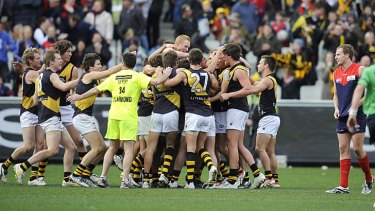Stunning defeat: Richmond beat the Dees in 2009.
