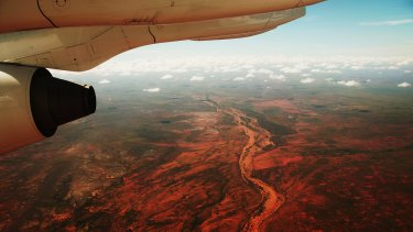 The Pilbara from above.