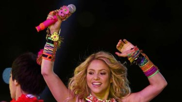 One billion views .... Shakira, performing at the closing ceremony for the 2010 World Cup.