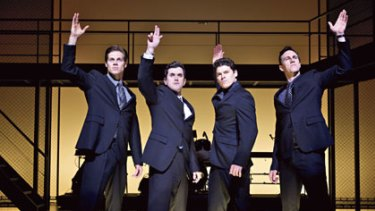Tribal loyalty, mob connections and a genetic, God-given ability to sing ... from left, Stephen Mahy, Bobby Fox, Scott Johnson and Glaston Toft as the Four Seasons.