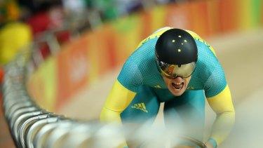 Matthew Glaetzer in the sprint.