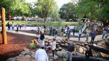 The City of Vincent's greening attempts include this nature play zone at Braithwaite Park, Mt Hawthorn.