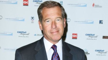 Under fire ... NBC news anchor Brian Williams is caught out over false Iraq story.