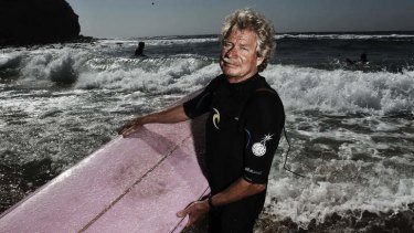 Still making waves ... Midget Farrelly at Avalon Beach.