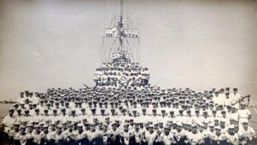 The ships company of the HMAS Sydney.