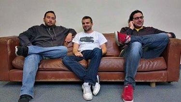 Corporate refugees ... ScriptRock founders Leo Venegas, Alan Sharp-Paul and Michael Baukes (L-R).