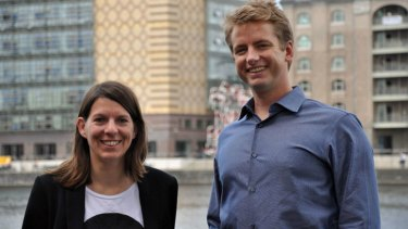 Eva Missling, new Europe general manager, 99designs, with the company's CEO Patrick Llewellyn in Berlin.