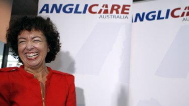 Family matters ...  Therese Rein at the launch of Anglicare's report yesterday. The financial crisis had tipped some people over the edge, she said.