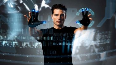 I'll buy that . . . Tom Cruise in the film Minority Report.