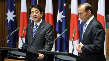 ''There are many things Japan and Australia can do together by each of us joining hands with the United States, an ally for both our nations'': Shinzo Abe.