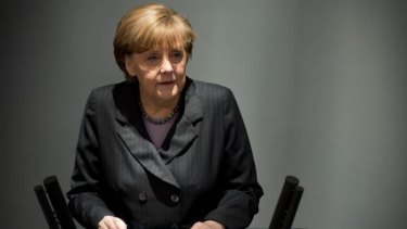 German Chancellor Angela Merkel warned Moscow on Thursday that if it continues its current course in the Ukraine crisis, Russia risks political and economic damage.
