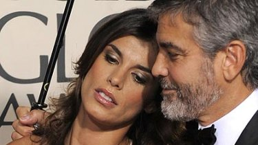 George Clooney and his partner Elisabetta Canalis.