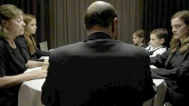 Scene from Greek director Alexandros Avranas's film <i>Miss Violence</i>.