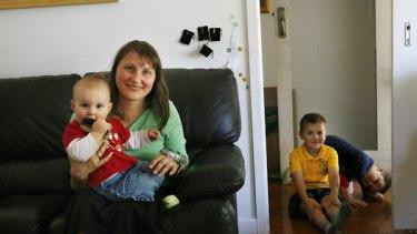Jo Bourke with her three children.
